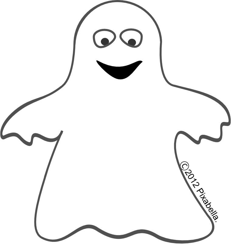 spooky clipart friendly ghost #143960793