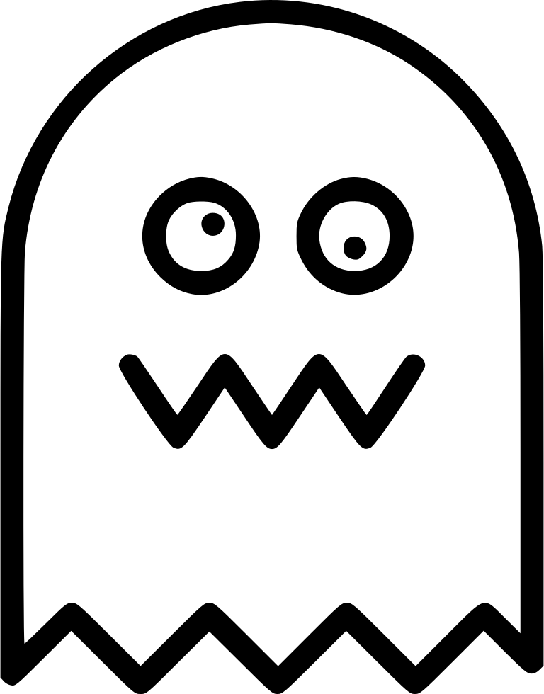 Ghost drawing at getdrawings. Pacman clipart black and white