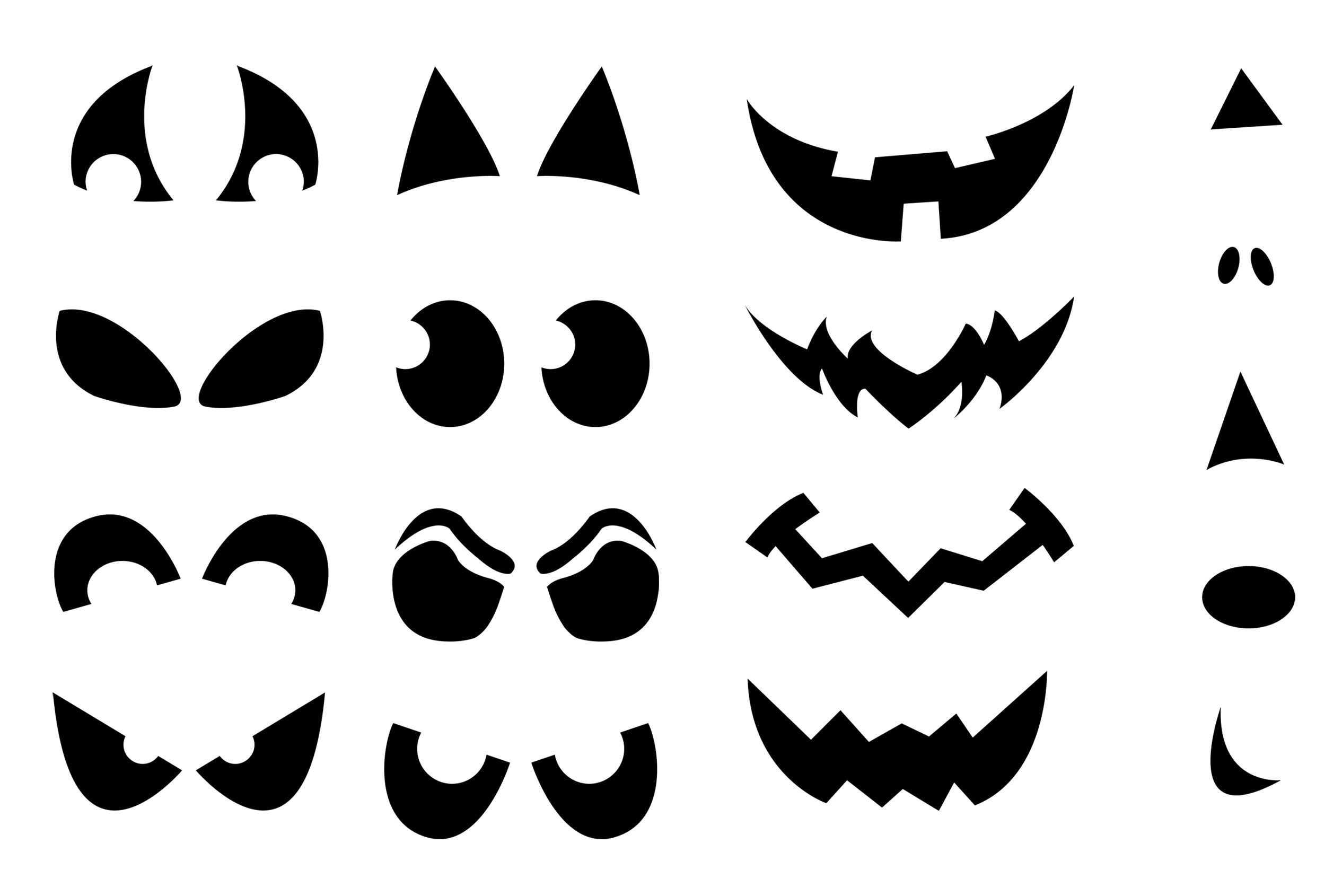 Eyes clipart ghost. Scary templates jack o