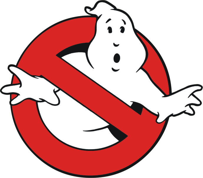 Ghost clipart logo. Ghostbusters back on the
