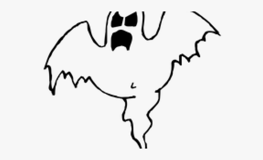 Ghost clipart fake. Halloween outline of a