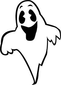 Ghost clipart black and white. Clip art images panda