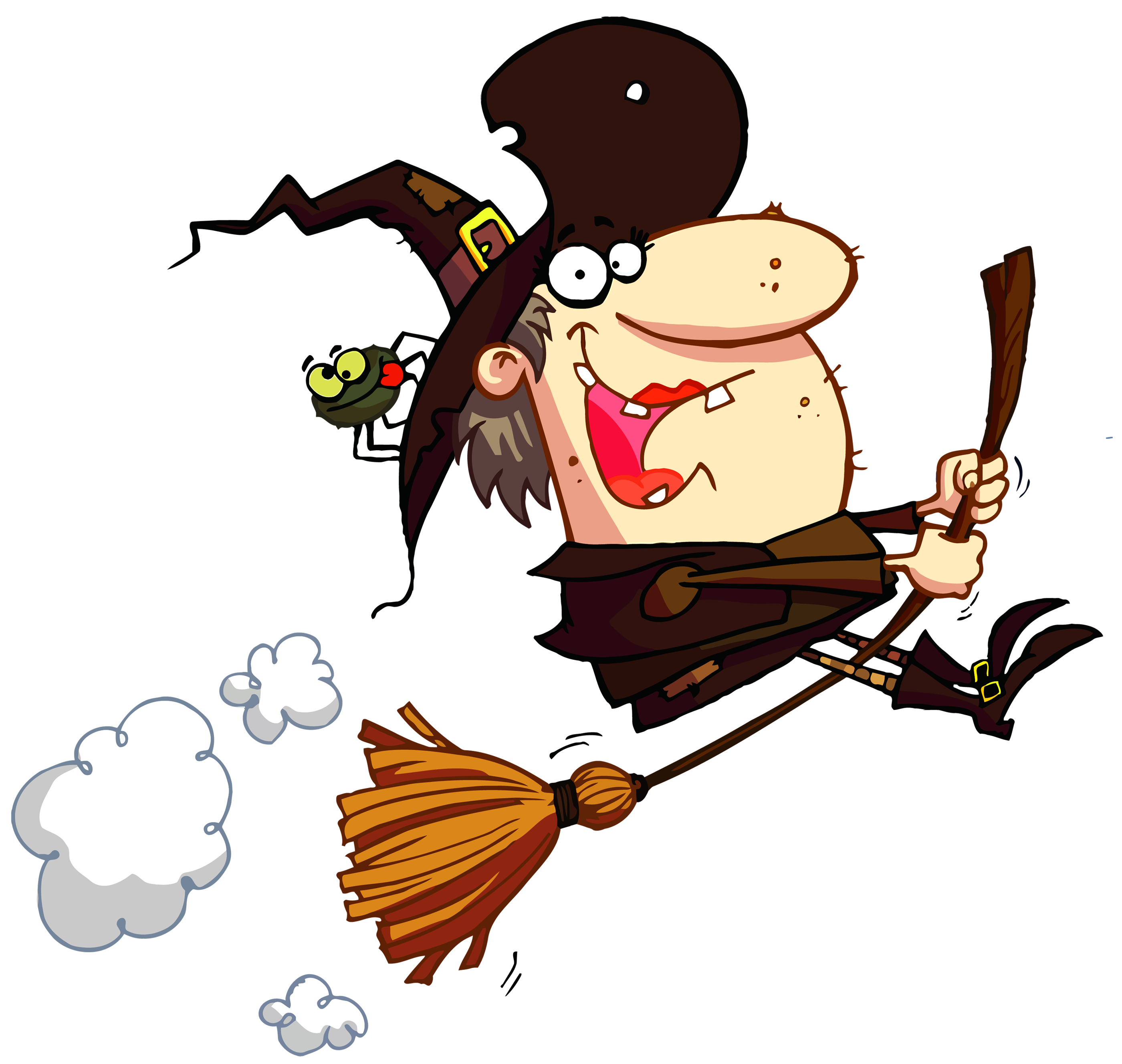 Maid clipart happy. Funny halloween witch events