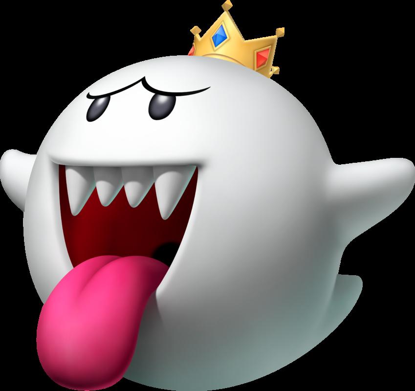 Mario clipart mario ghost. King boo kart racing
