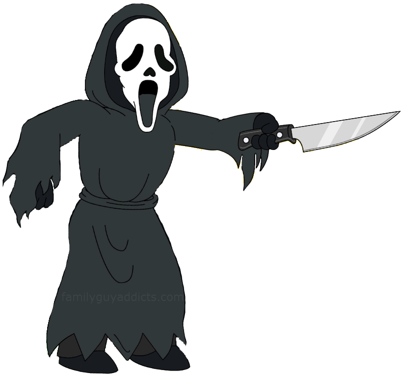 Clipart ghost ghost face. Ghostface family guy addicts