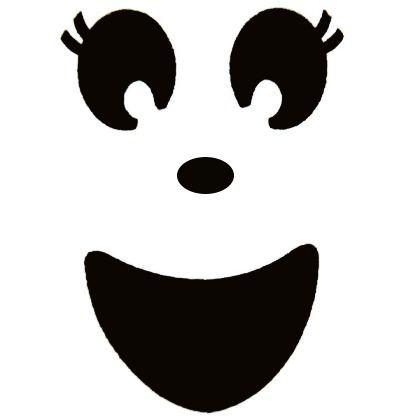 Clipart ghost ghost face. Template girls tutu costume