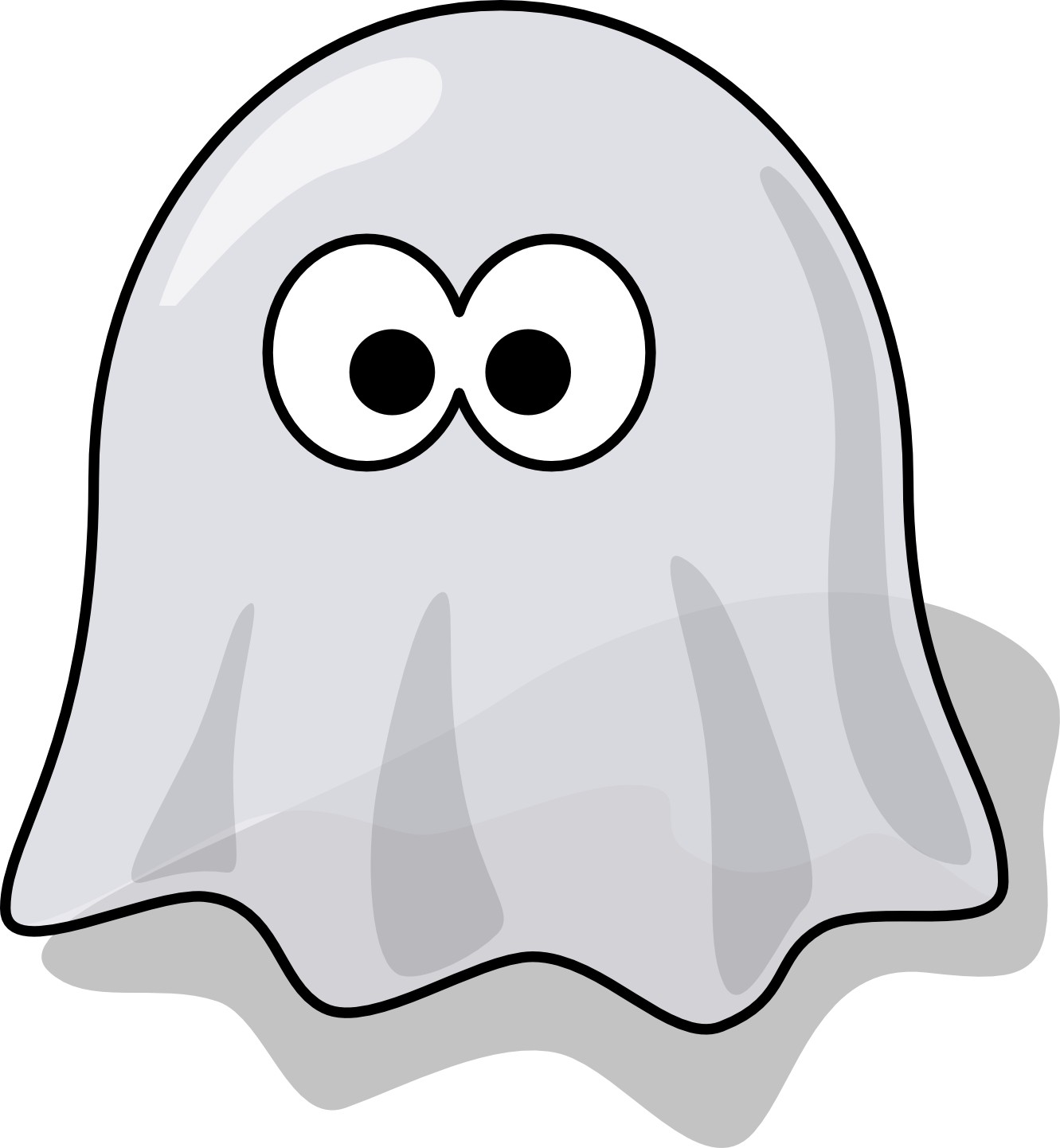 Outline clipart ghost. Clip art panda free