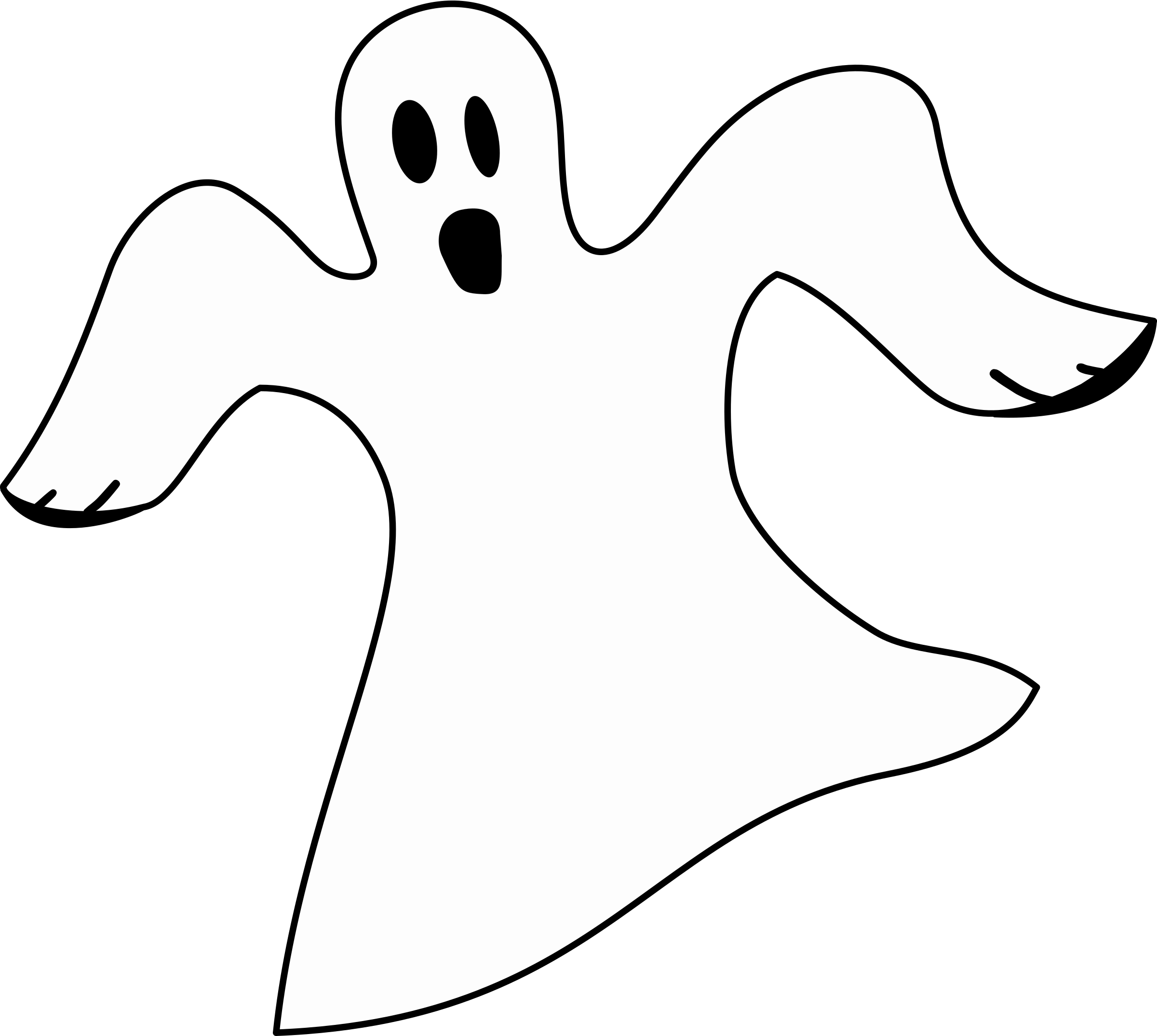 Hand clipart ghost.  collection of white