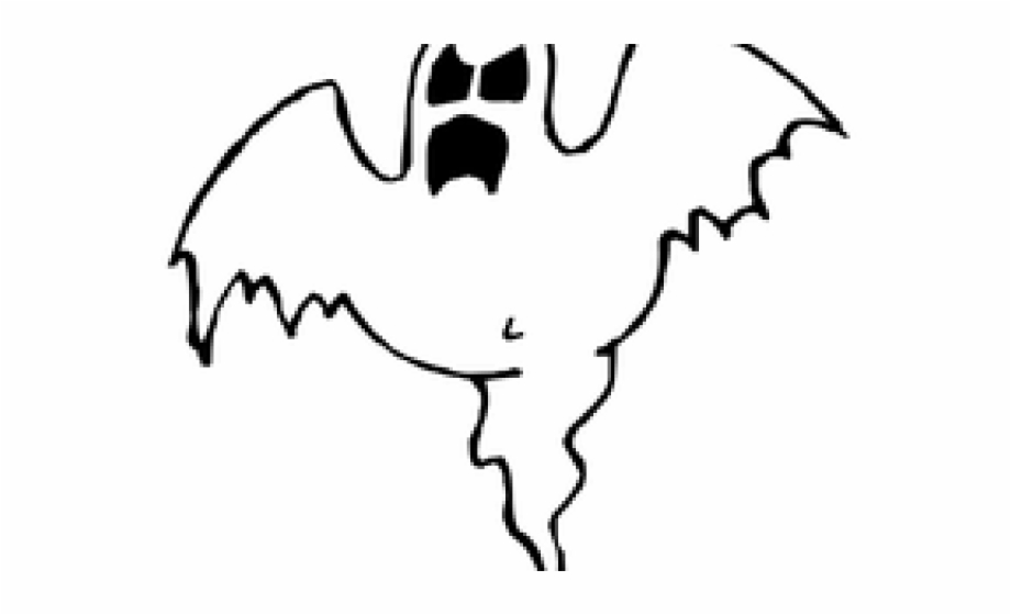 Halloween scary clip art. Ghost clipart black and white
