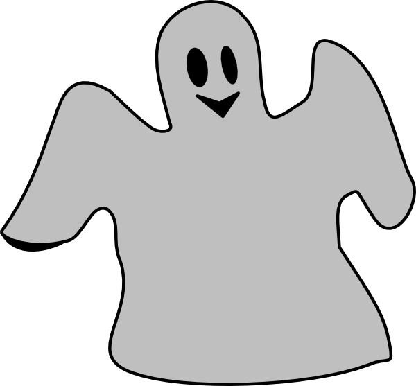 Smiling gray clip art. Hands clipart ghost