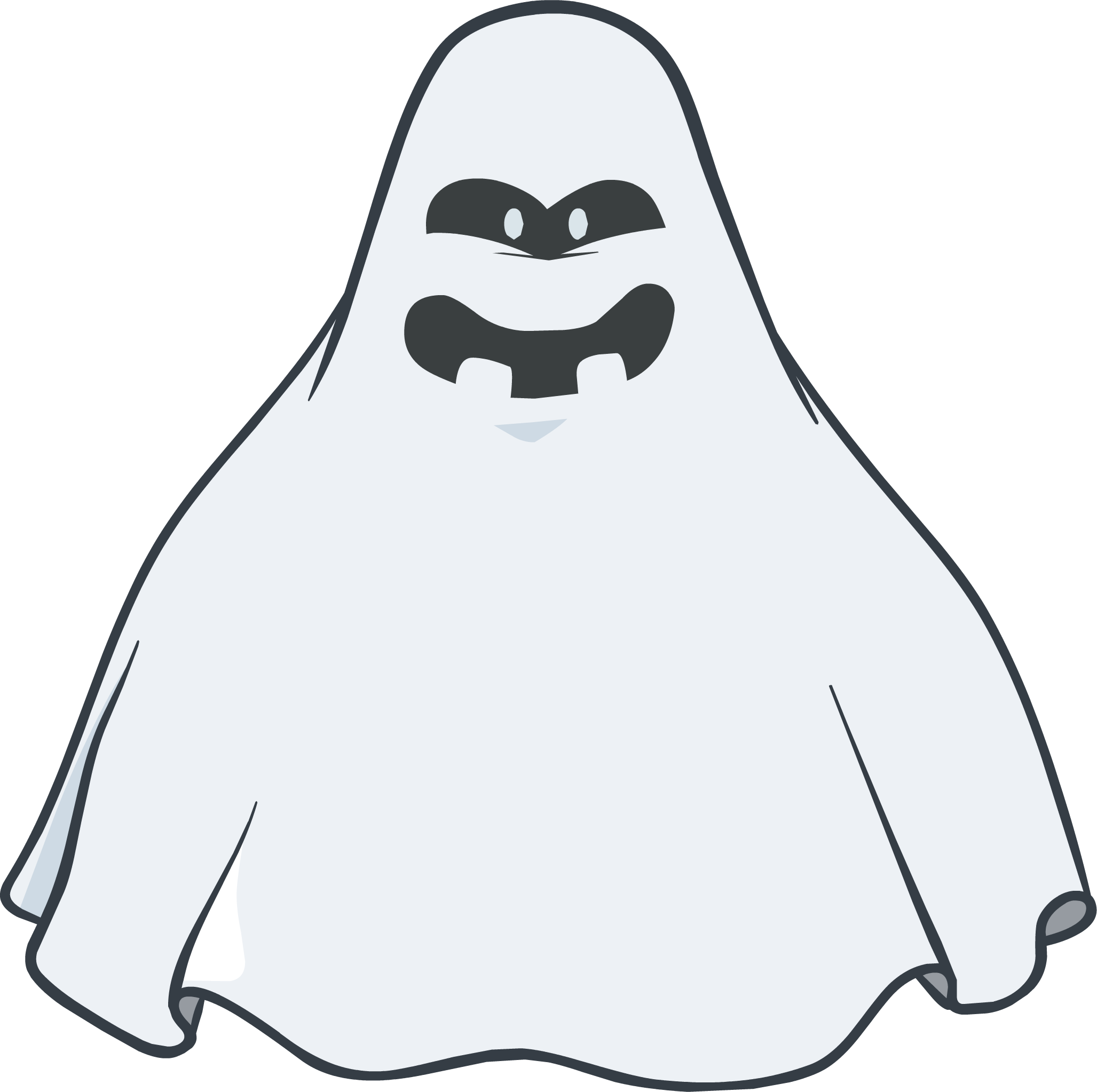 Halloween party interface club. Ghost clipart item