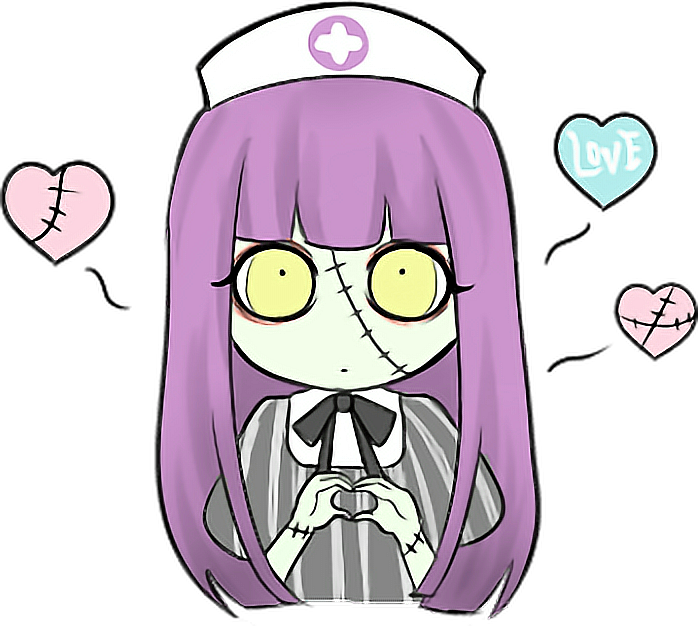 Doctor kawaii love cute. Zombie clipart zombie nurse