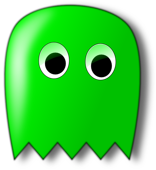 Ghost clipart blue ghost. Pacman clip art at