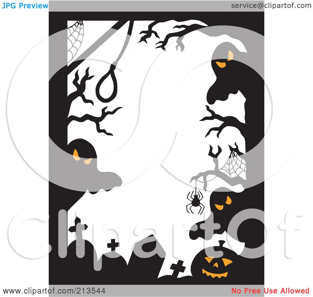 Halloween clip art border. Clipart ghost mad