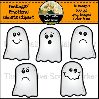 Halloween feelings emotions . Clipart ghost mad