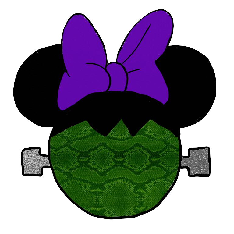 Purple clipart mouse. Halloween minnie zombie free