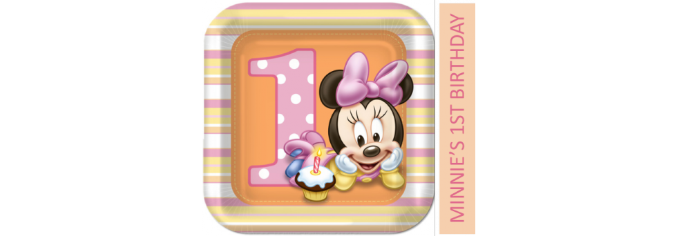 Minnie mouse first party. Ladybug clipart 1st birthday