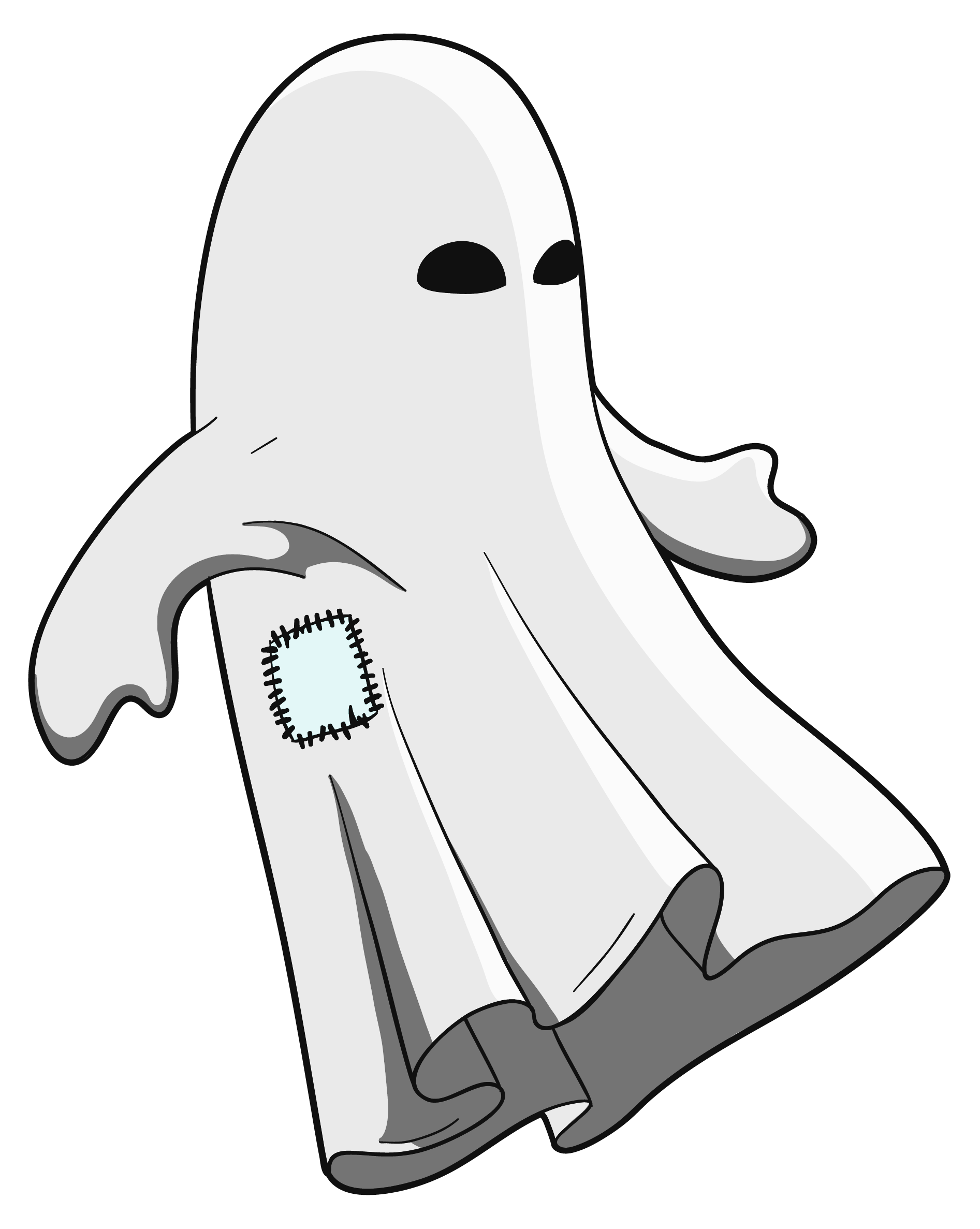 collection of png. Outline clipart ghost