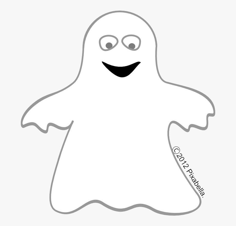 Free cliparts on . Ghost clipart black and white