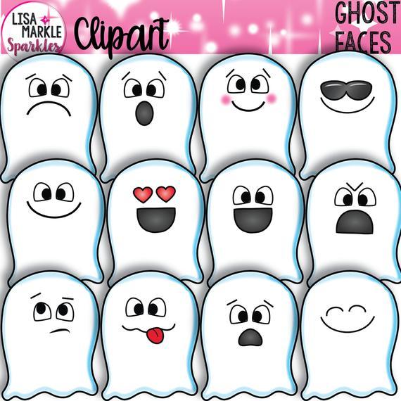 Emoji emotion halloween fall. Clipart ghost october