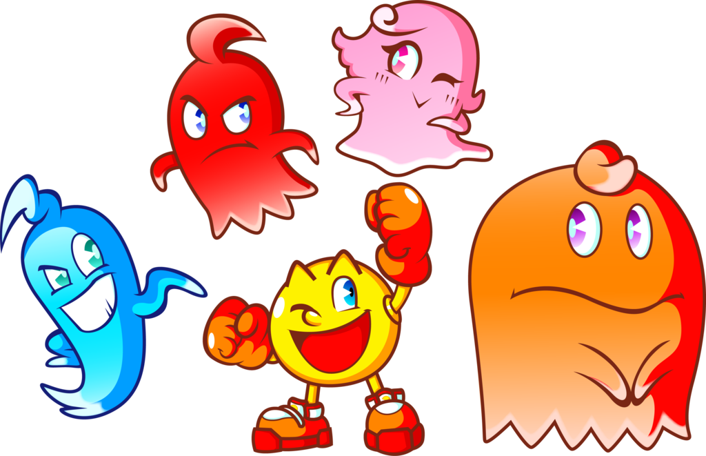 Yelling clipart bad leader. Pac man and the