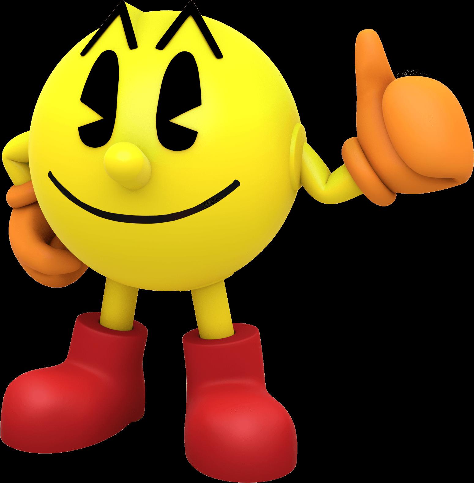 Finger clipart plain. Pacman large standing transparent