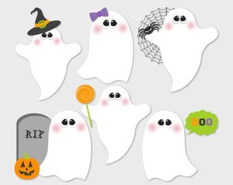 Ghost clipart pretty. Cute etsy