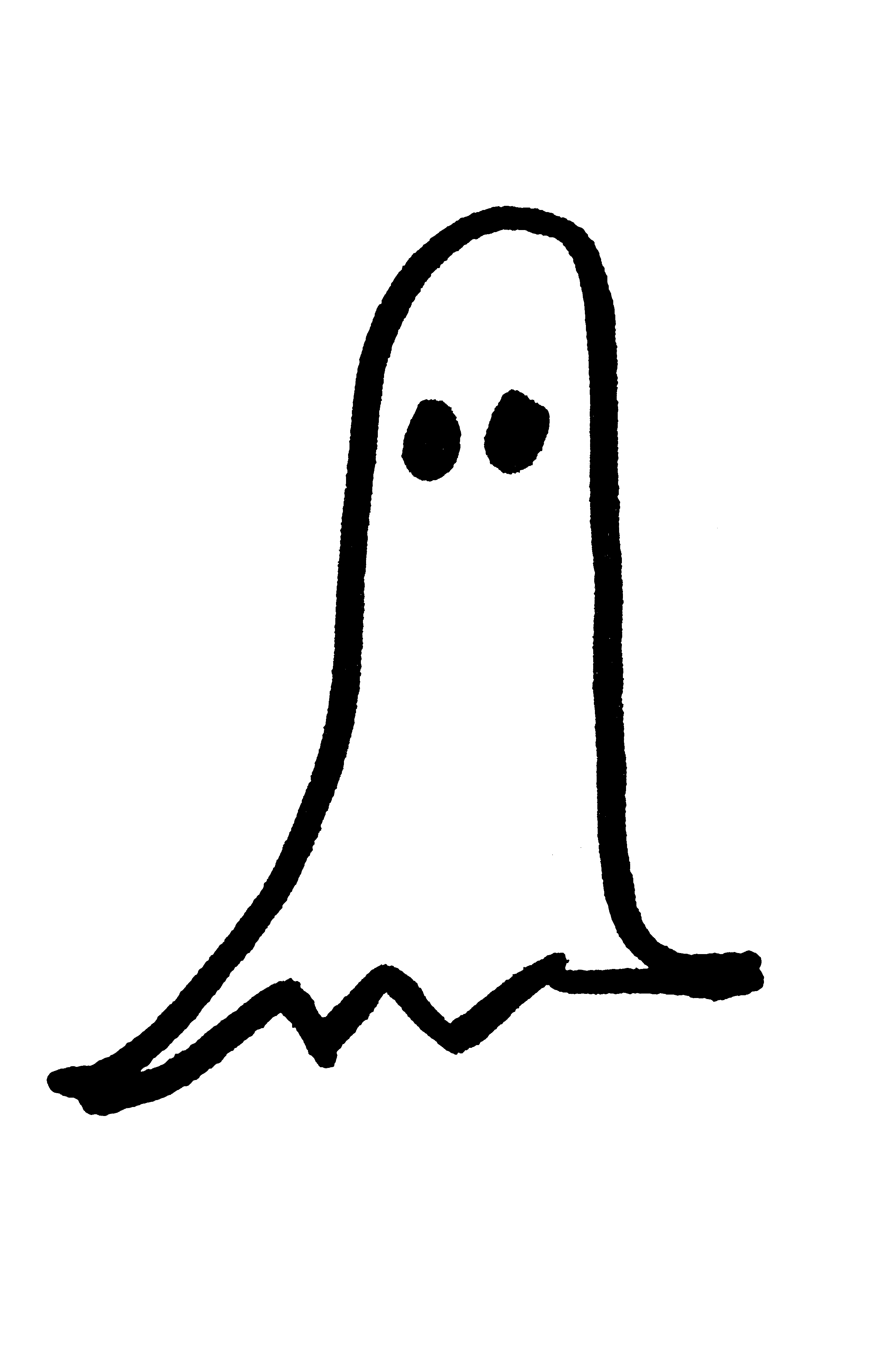 Free ghost public domain. Halloween clipart hand