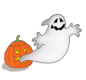 Pumpkin clipart ghost. Happy halloween