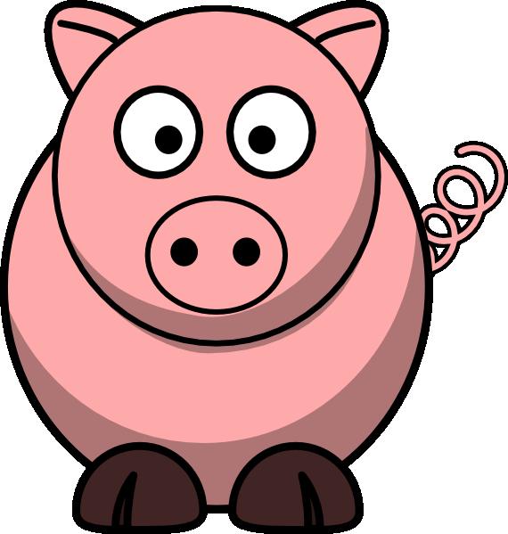 Clipart hippo fat. Pig clip art at