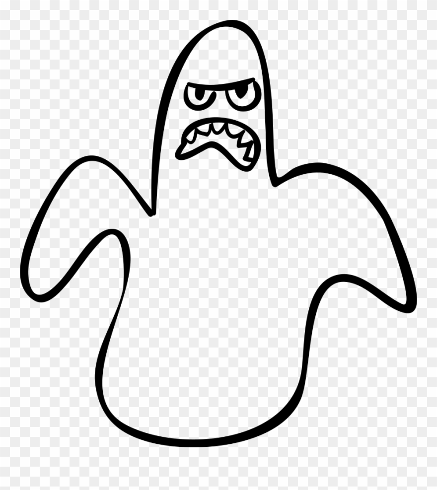 Halloween outline scary comments. Ghost clipart shape