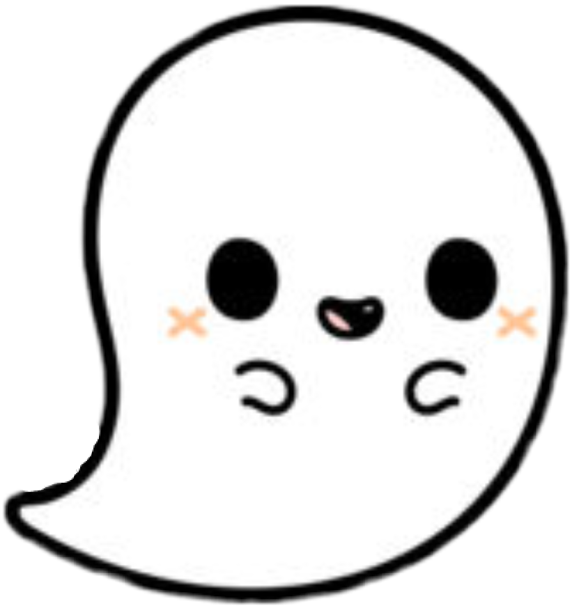 Ghost clipart sticker. Cute by angelsimmons