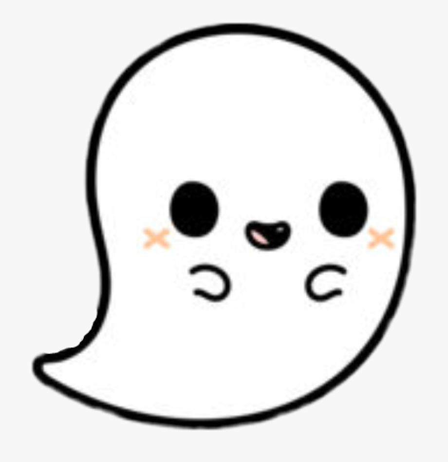 Cute transparent png . Ghost clipart sticker