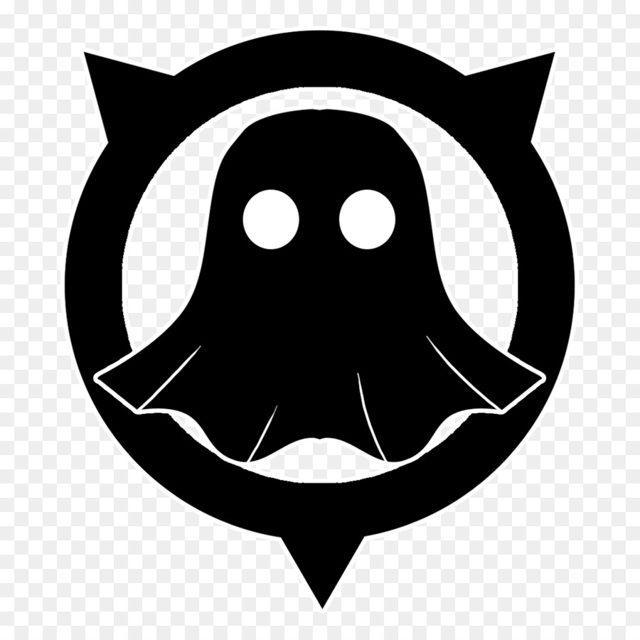 Call icon black head. Ghost clipart logo