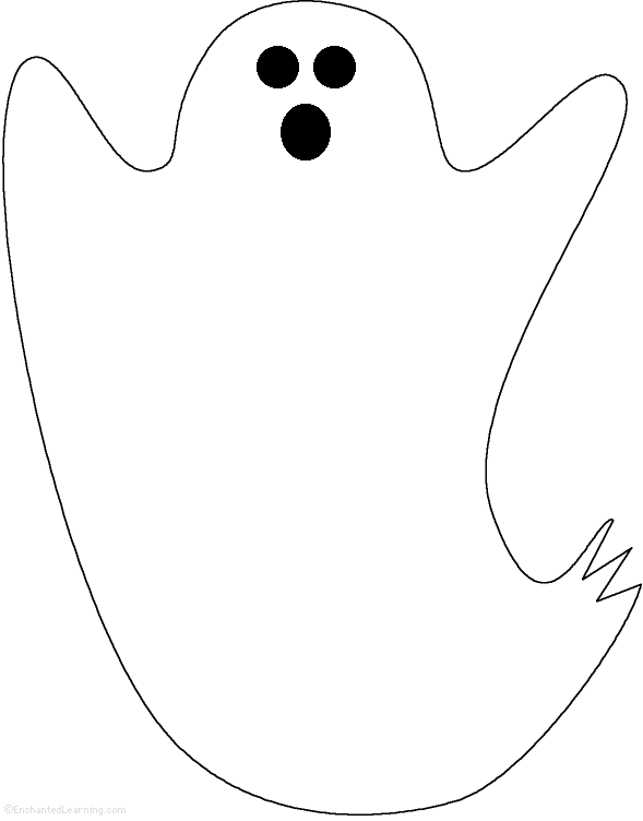 Outline free download best. Clipart ghost template