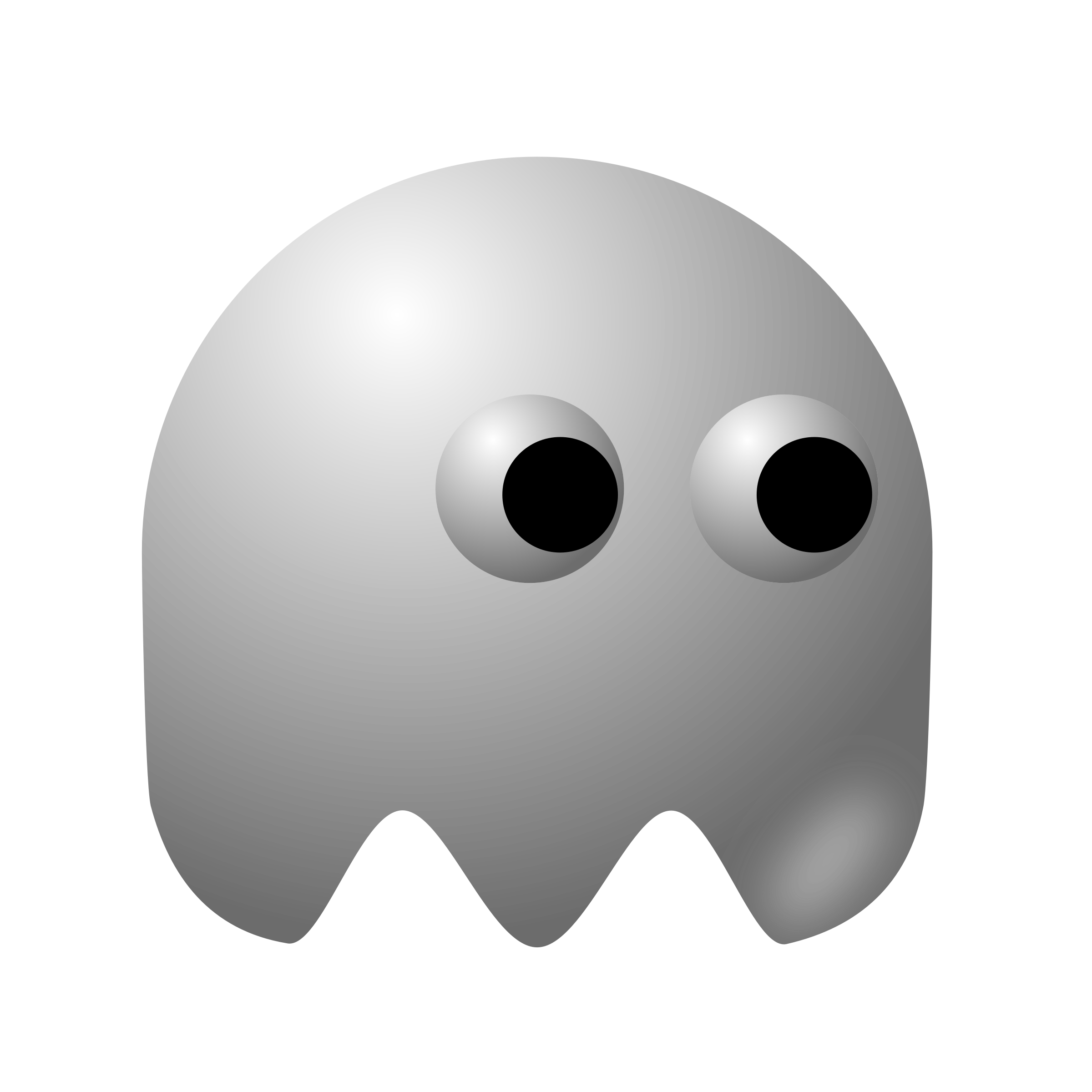 Pacman clipart black and white. Padepokan ghost icons png