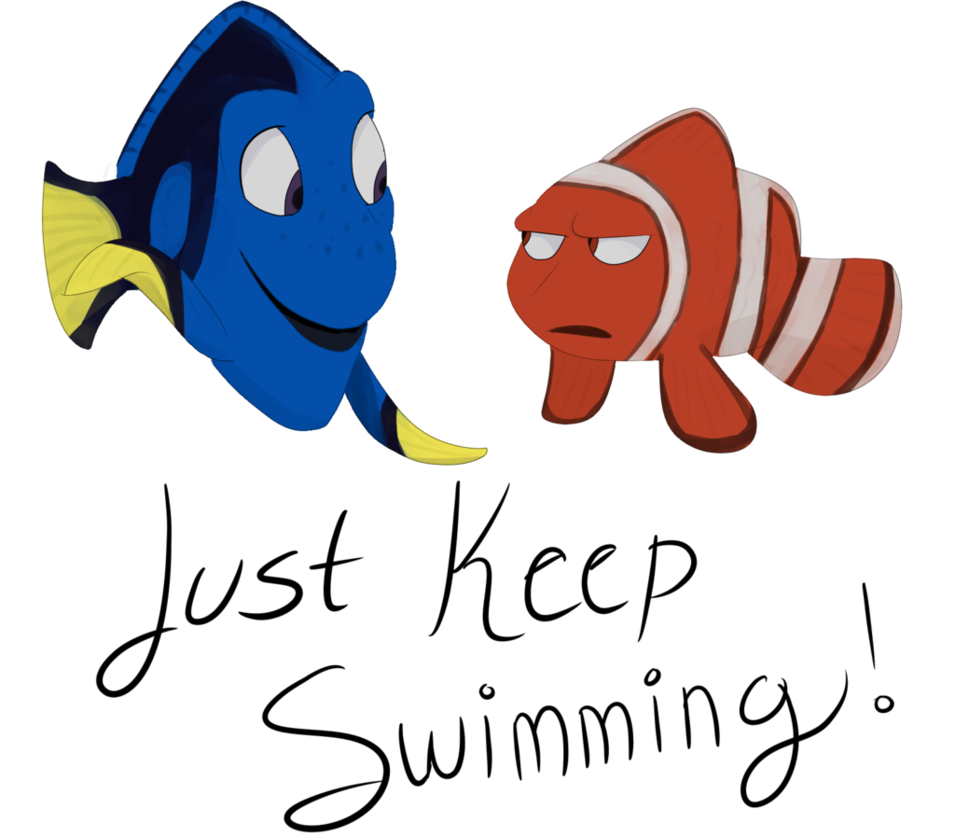 By ghost paint on. Dory clipart just keep swimming