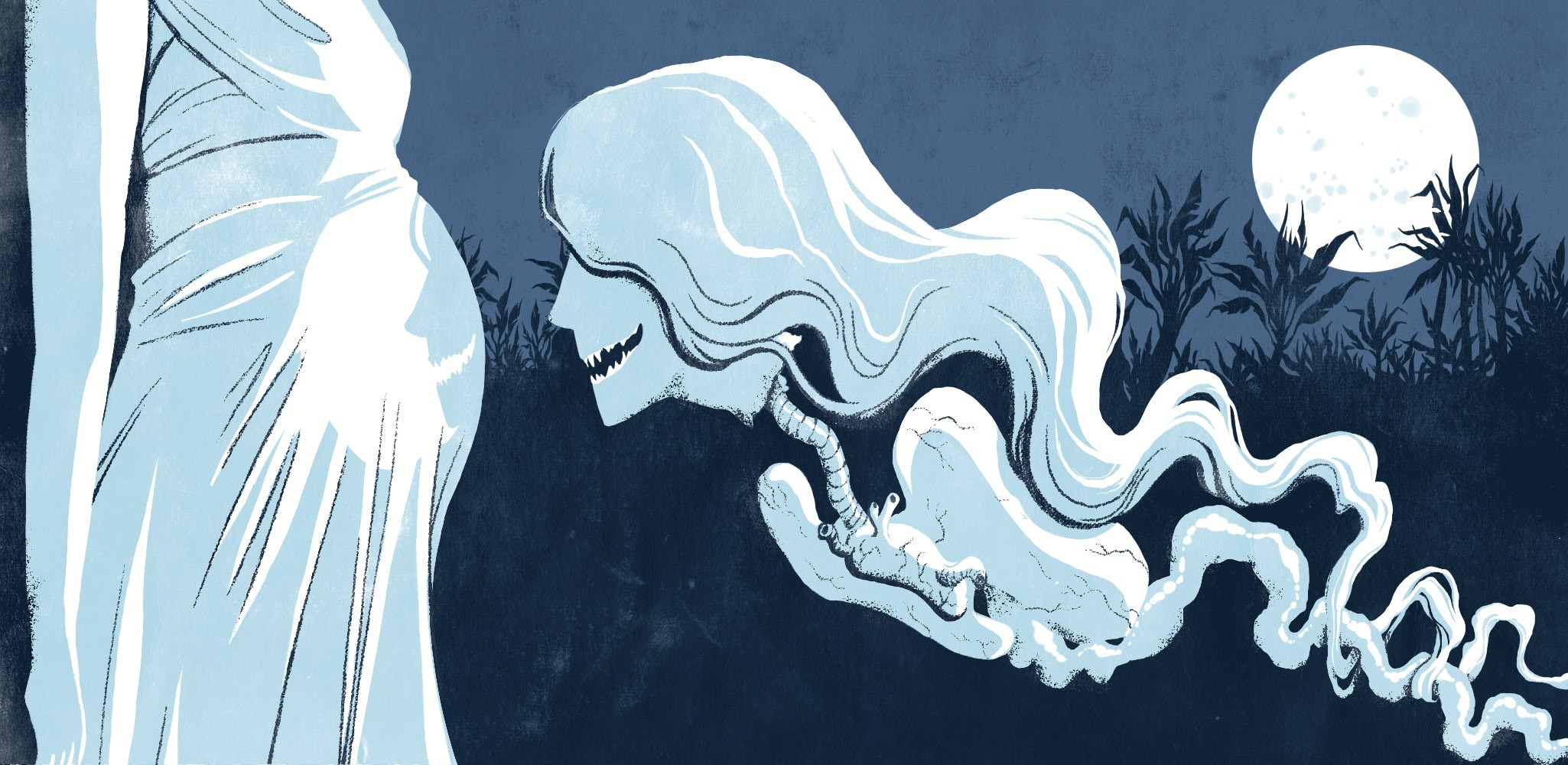 The most terrifying ghosts. Ghost clipart traditional