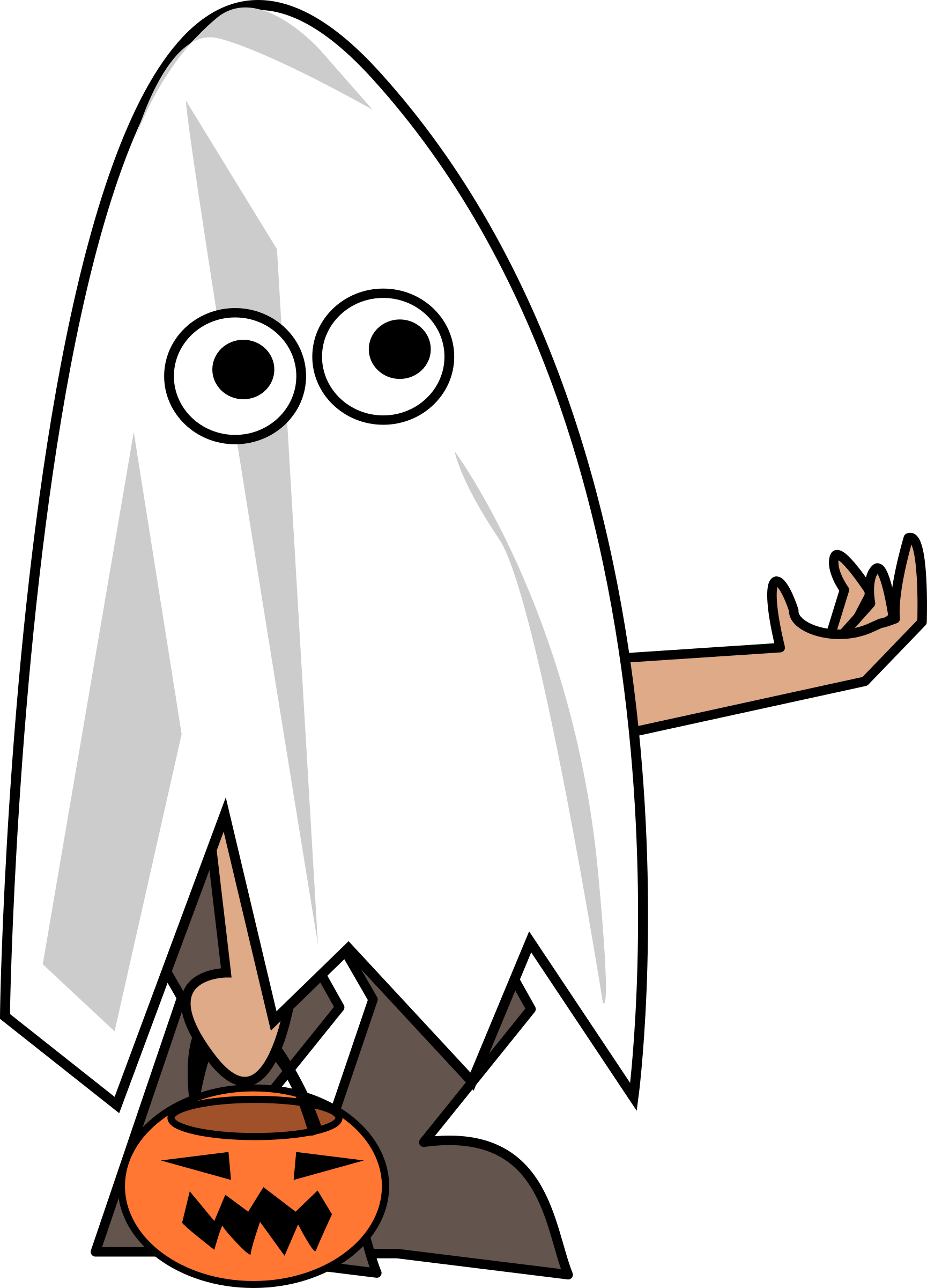 October clipart trick or treater. Remix big image png