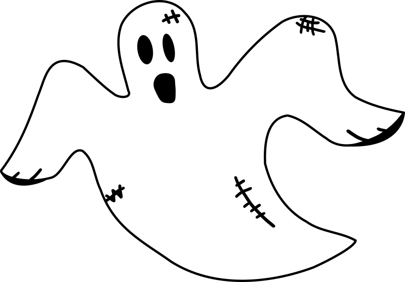Stitched medium image png. Clipart ghost white thing