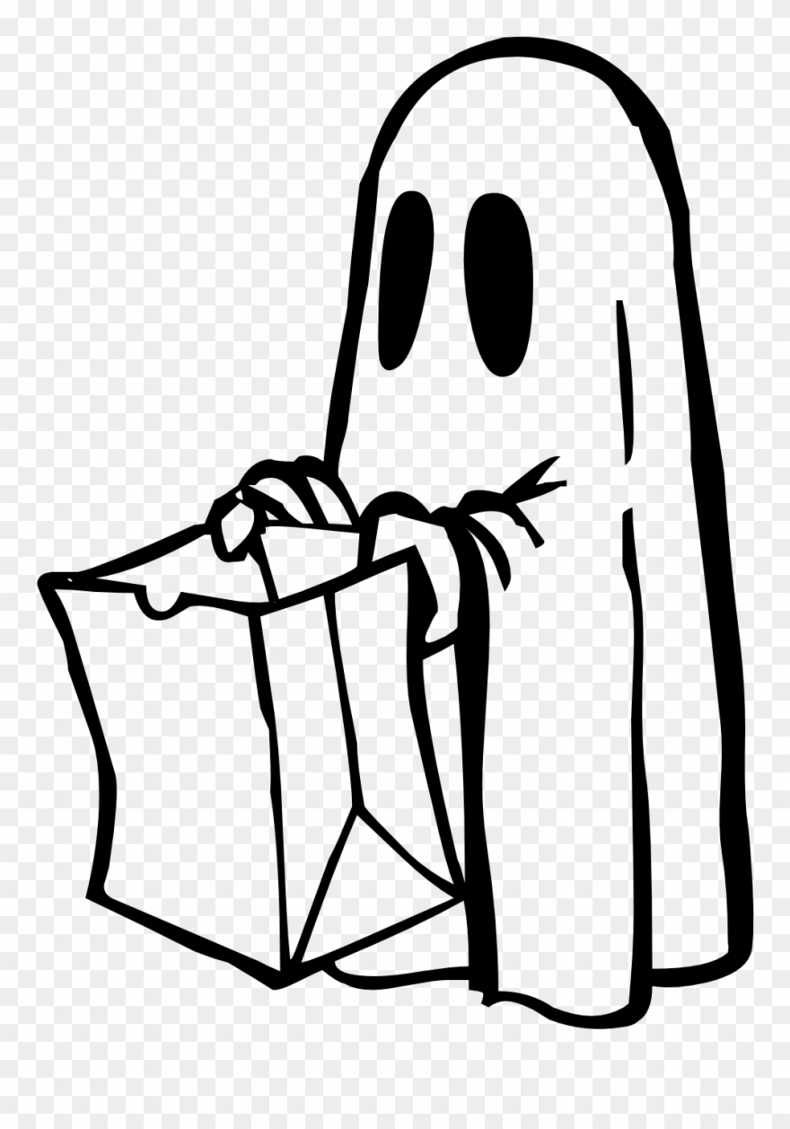 Clip art black and. Clipart ghost white thing