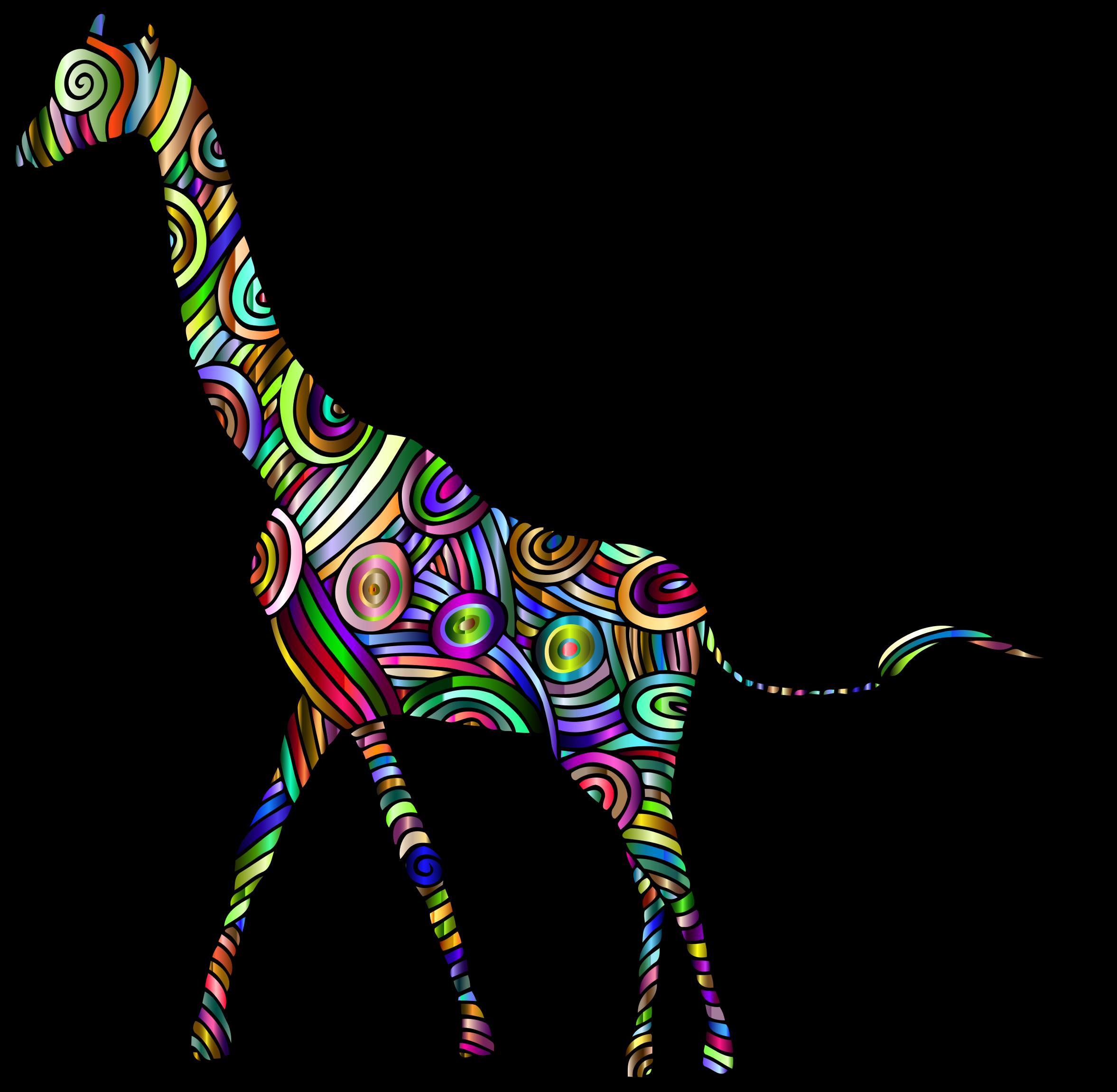 Chromatic stylized big image. Neck clipart giraffe