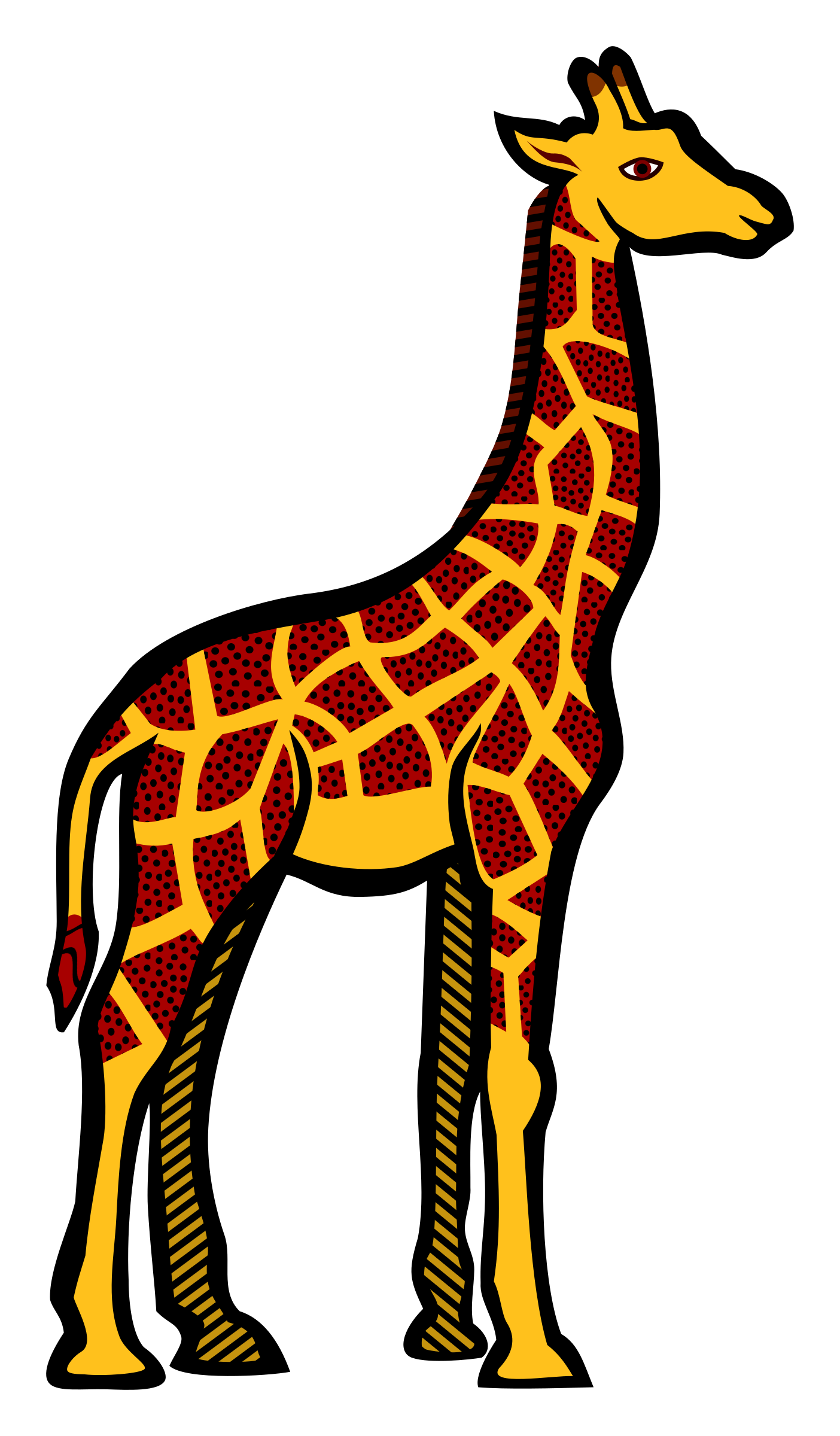 Coloured big image png. Clipart giraffe