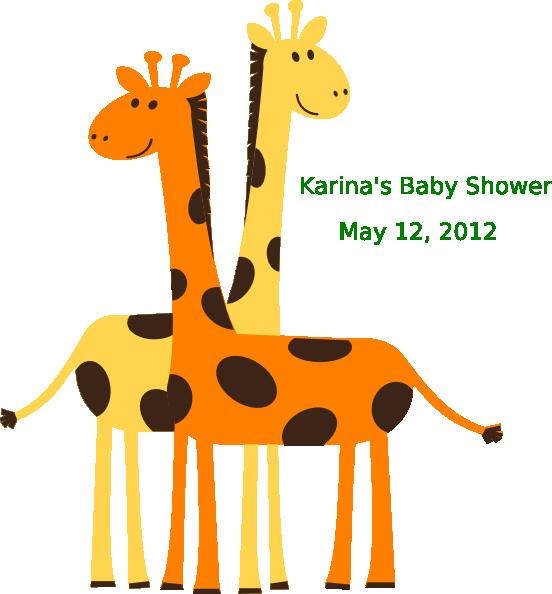 Karina s clip art. Clipart giraffe baby shower