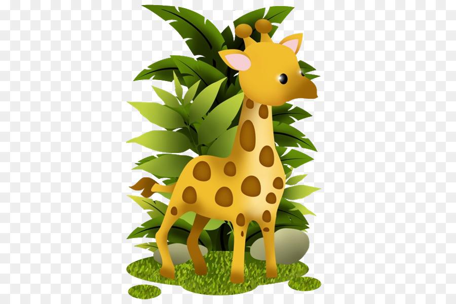 Cartoon baby animal . Giraffe clipart bird