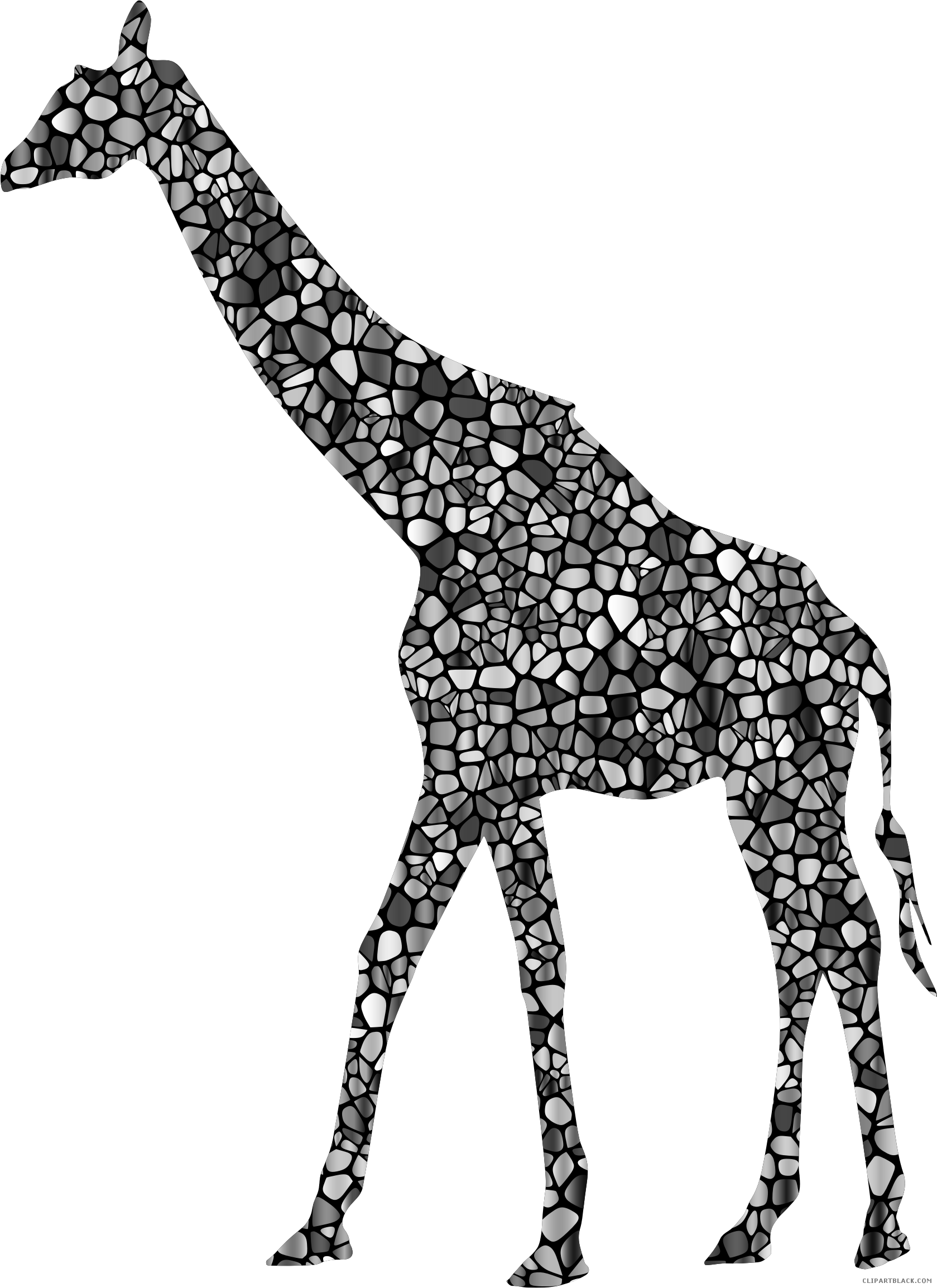 Giraffe silhouette animal free. Horseshoe clipart mustang football