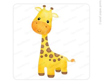 Clipart giraffe calf. Watercolor etsy