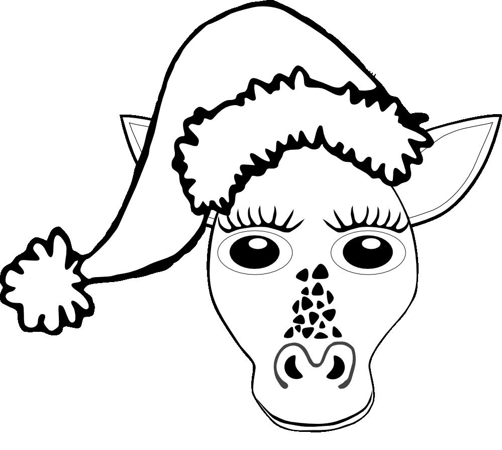 Clipart giraffe christmas. Clipartist net clip art