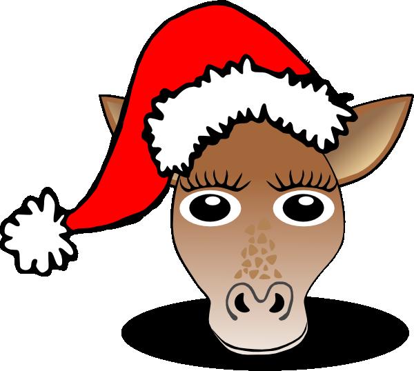 Clip art at clker. Clipart giraffe christmas