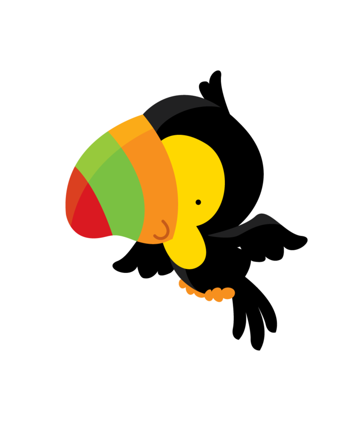 Minus say hello dibujos. Parrot clipart cute baby
